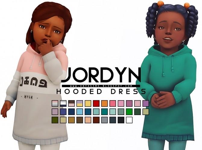 Sims 4 Jordyn Hooded Dress at Onyx Sims