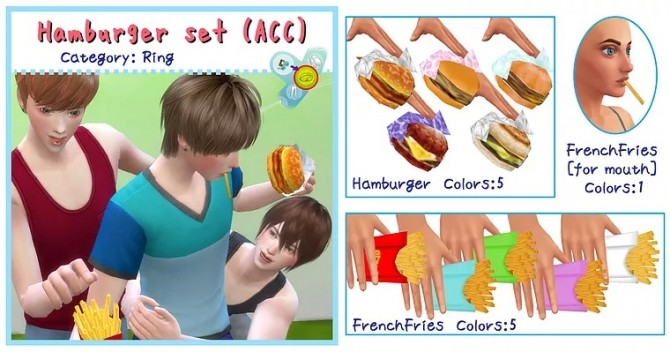 Hamburger Set ACC/Deco at A luckyday image 299 670x352 Sims 4 Updates