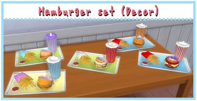 Hamburger Set ACC/Deco at A luckyday image 300 670x346 Sims 4 Updates