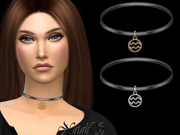 Aquarius pendant choker by NataliS at TSR image 3011 Sims 4 Updates