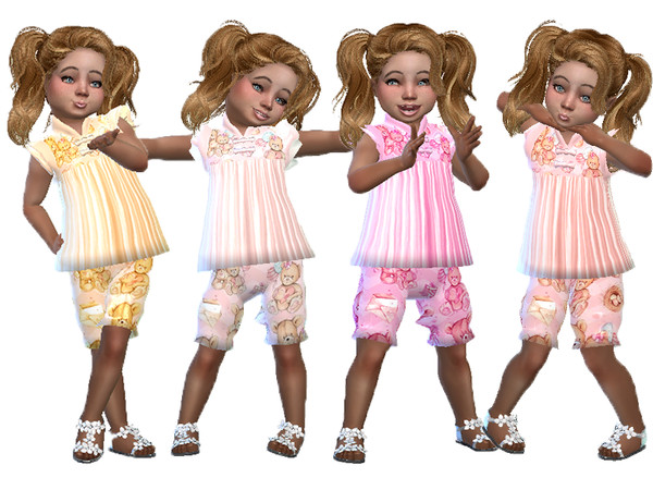 Sims 4 Teddie toddler outfit by TrudieOpp at TSR