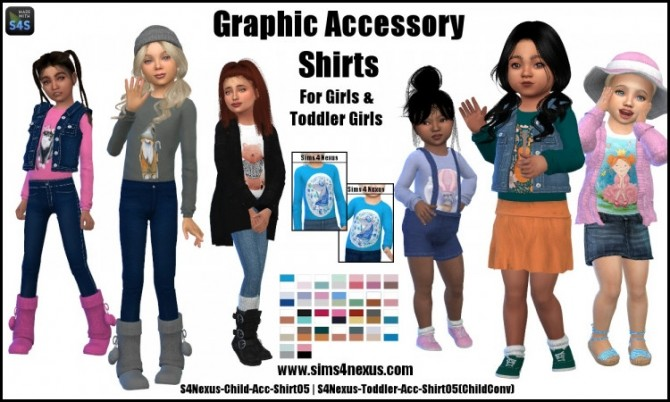 Graphic Accessory Shirts by SamanthaGump at Sims 4 Nexus image 3062 670x402 Sims 4 Updates