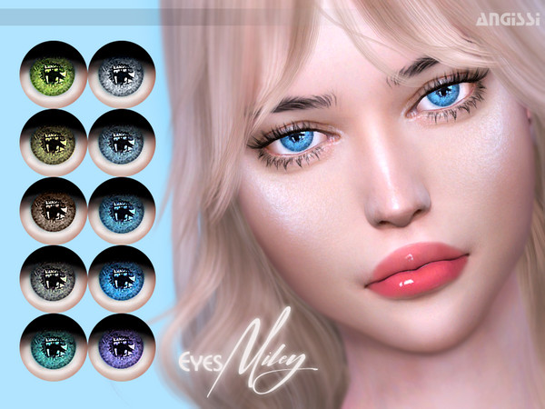Sims 4 Miley eyes by ANGISSI at TSR