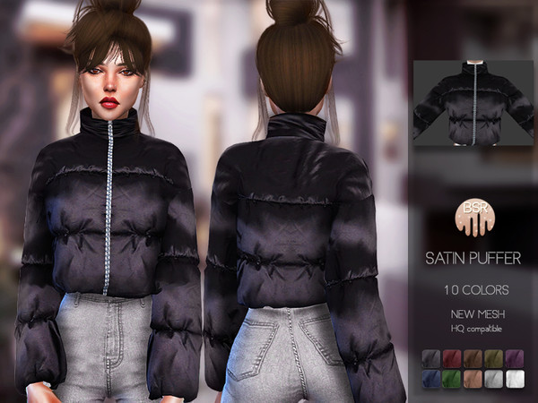 Sims 4 Satin Puffer BD132 by busra tr at TSR
