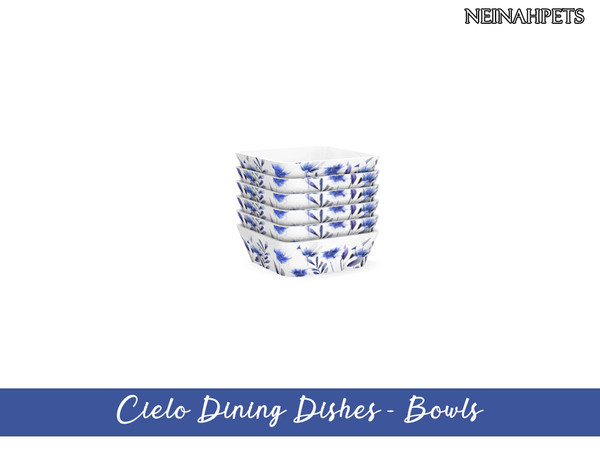 Sims 4 Cielo Dining Dish Collection by neinahpets at TSR