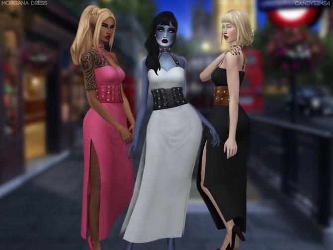 MORGANA DRESS + BELT & CHOKER ACC RECOLOR at Candy Sims 4 image 320 670x503 Sims 4 Updates