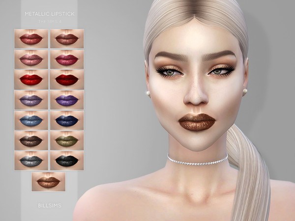 Metallic Lipstick by Bill Sims at TSR image 3213 Sims 4 Updates