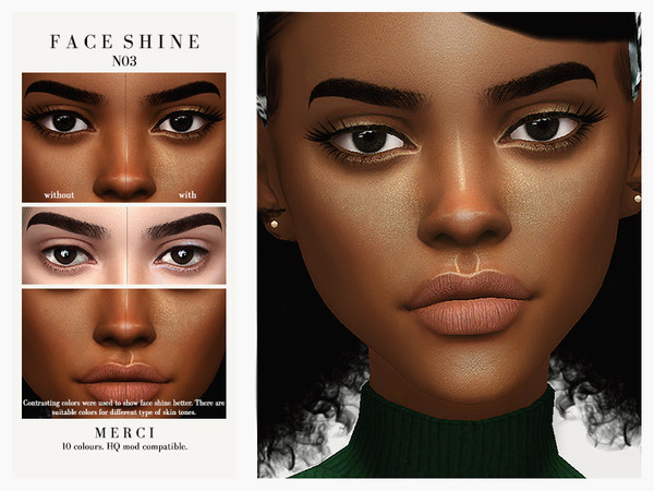 Sims 4 Face Shine N03 by Merci at TSR