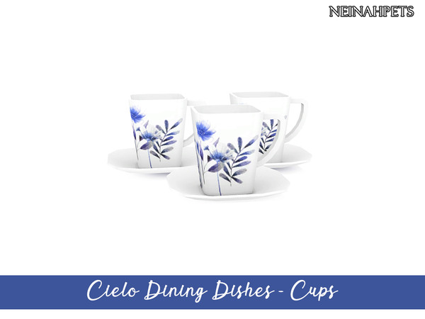 Cielo Dining Dish Collection by neinahpets at TSR image 3218 Sims 4 Updates
