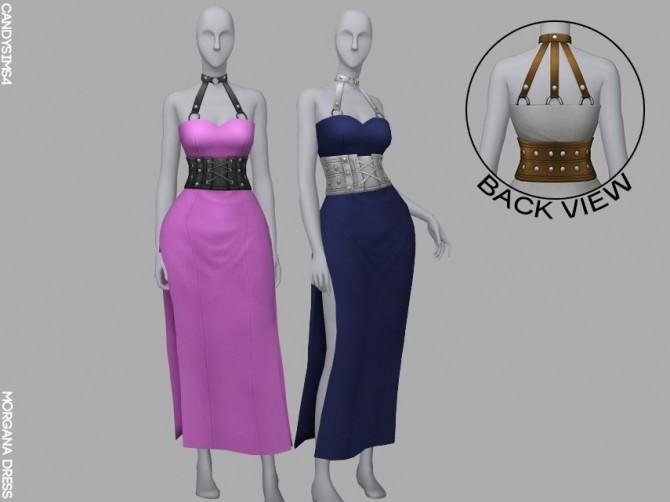 MORGANA DRESS + BELT & CHOKER ACC RECOLOR at Candy Sims 4 image 322 670x502 Sims 4 Updates