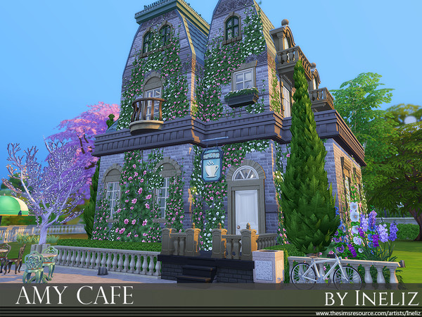 Sims 4 Amy Cafe by Ineliz at TSR