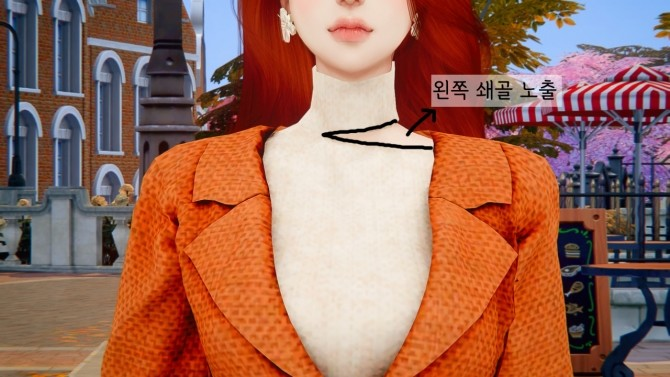 Sims 4 Waist bag over jacket dress at RIMINGs
