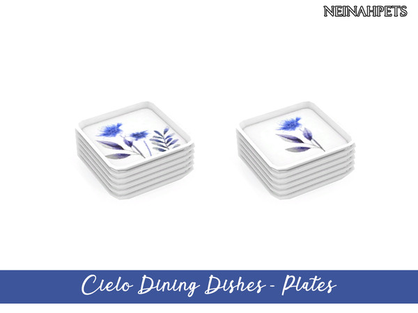 Cielo Dining Dish Collection by neinahpets at TSR image 3318 Sims 4 Updates