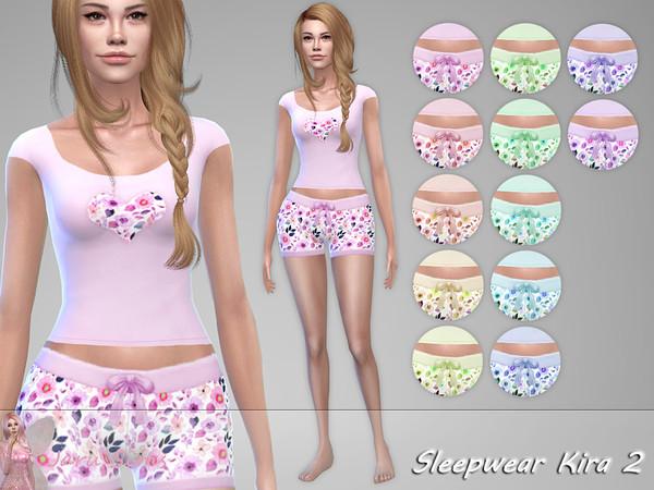 Sims 4 Sleepwear Kira 2 by Jaru Sims at TSR