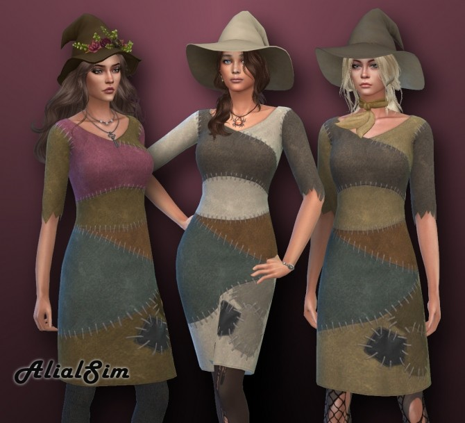 Miss Patchy Dress at Alial Sim image 334 670x609 Sims 4 Updates