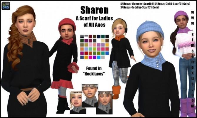 Sims 4 Sharon scarf by SamanthaGump at Sims 4 Nexus