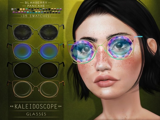 Sims 4 Kaleidoscope glasses at Blahberry Pancake