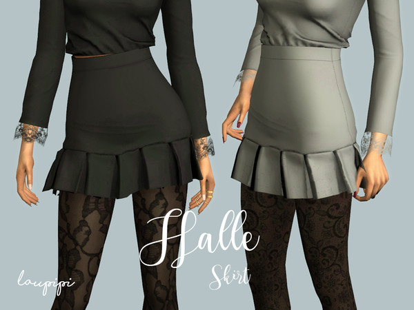 Sims 4 Halle Skirt by laupipi at TSR