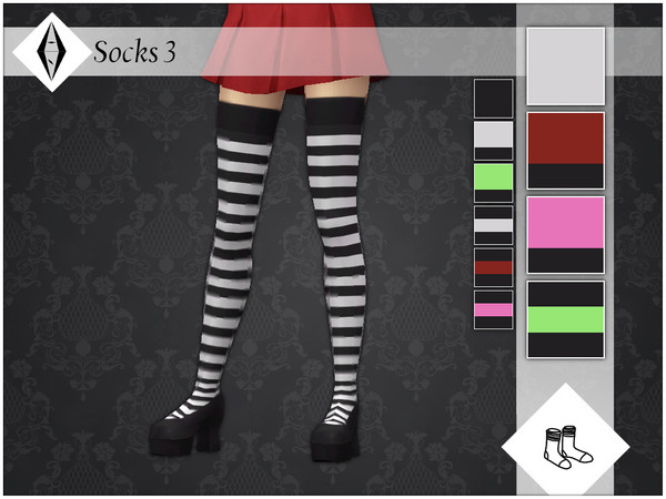 Sims 4 Socks 3 by AleNikSimmer at TSR