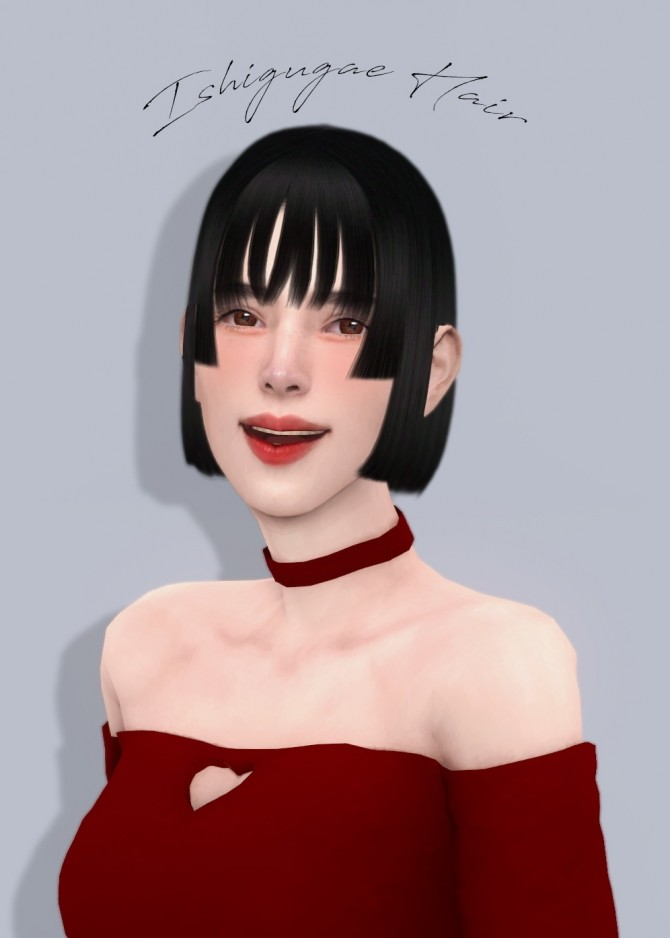 Sims 4 Ishigugae Hair at OJE
