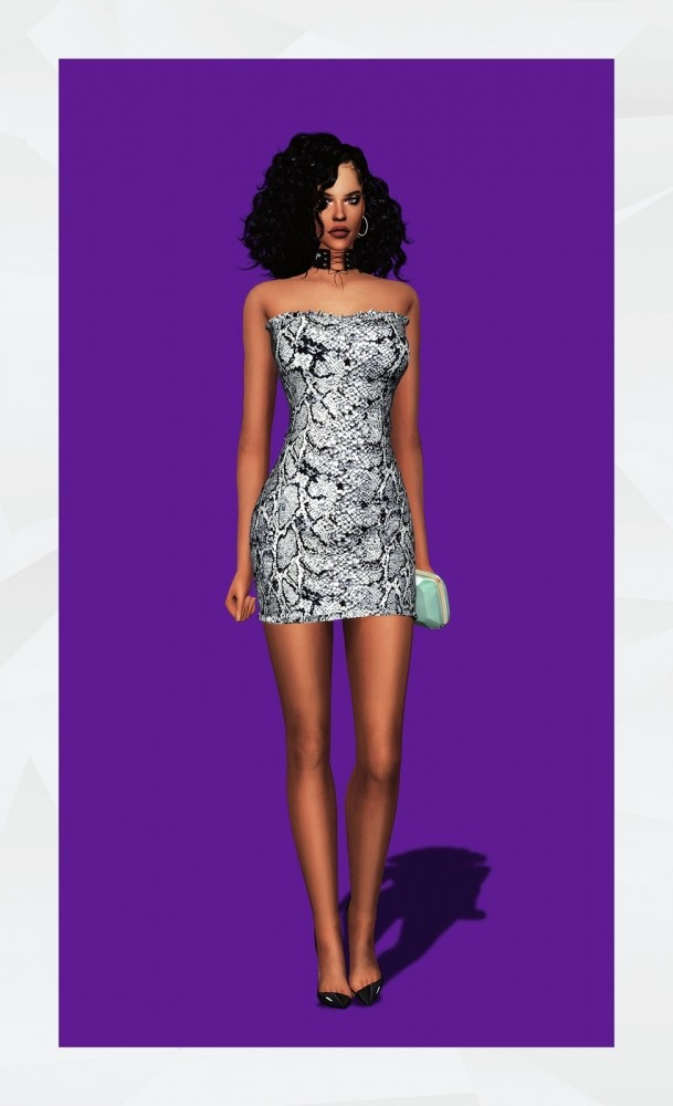 Sims 4 Olson Dress at Gorilla