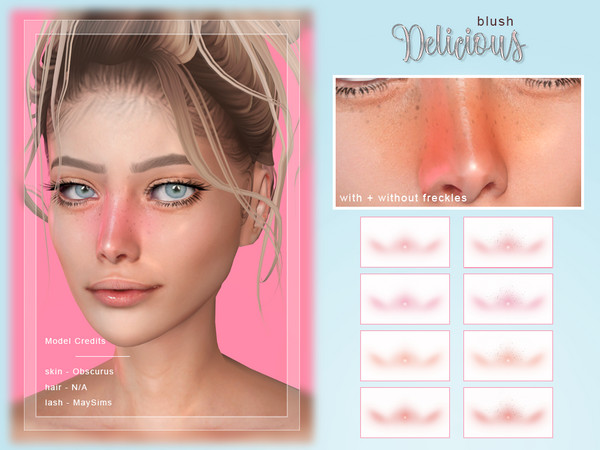 Delicious Blush by Screaming Mustard at TSR image 3513 Sims 4 Updates