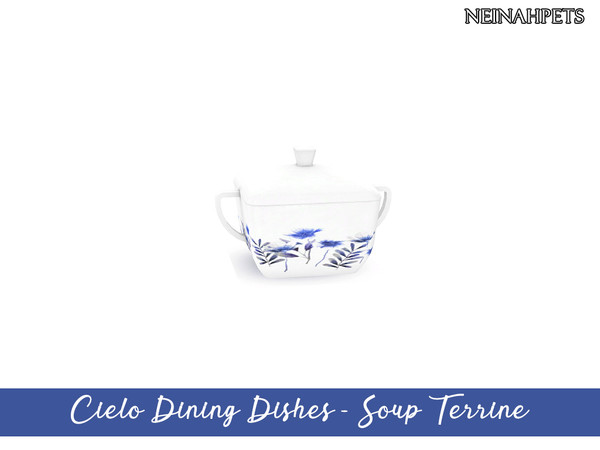 Cielo Dining Dish Collection by neinahpets at TSR image 3515 Sims 4 Updates