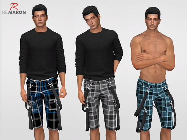 Sims 4 Cargo Shorts Grid by remaron at TSR