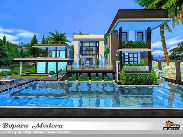 Sims 4 Bupara Modern house by autaki at TSR