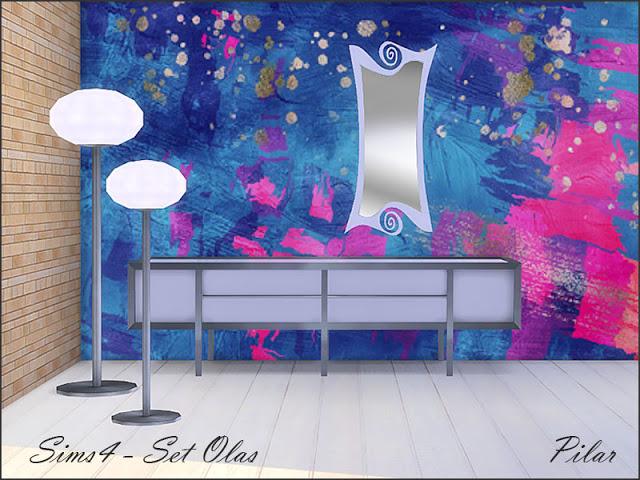 Sims 4 Sideboard sets by Pilar at SimControl