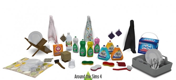 Washing up set by Sandy at Around the Sims 4 image 354 670x307 Sims 4 Updates