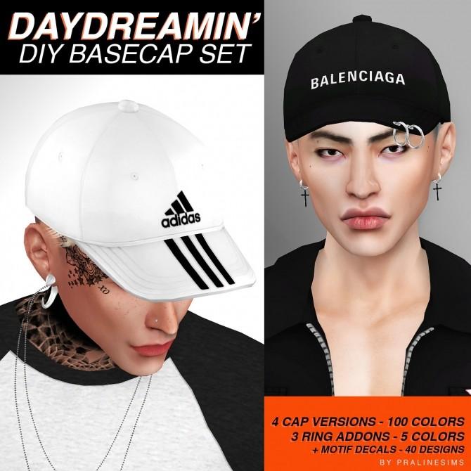 Sims 4 Daydreamin DIY basecap set at Praline Sims