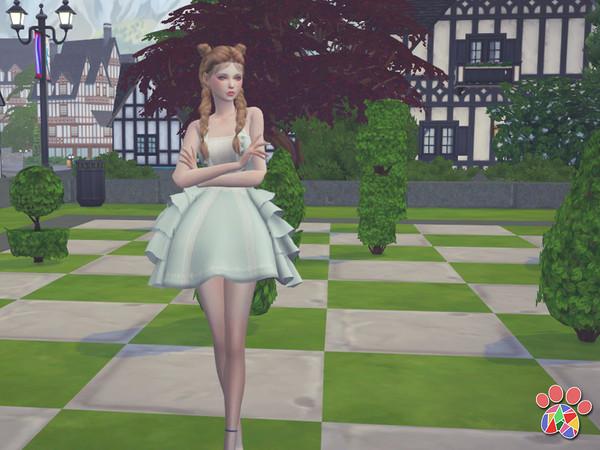 Cake dress by Arltos at TSR image 360 Sims 4 Updates