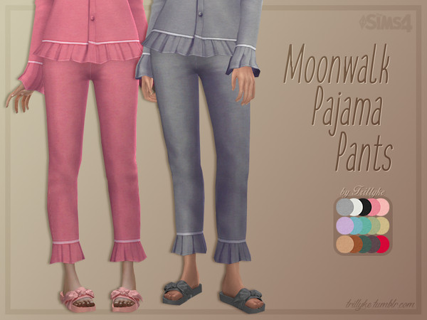 Moonwalk Pajama Pants by Trillyke at TSR image 3610 Sims 4 Updates