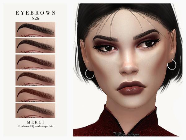 Sims 4 Eyebrows N26 by Merci at TSR