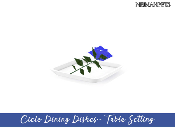 Cielo Dining Dish Collection by neinahpets at TSR image 3612 Sims 4 Updates