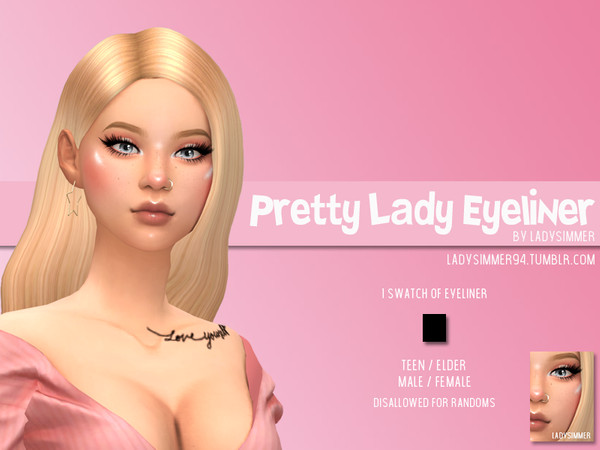 Pretty Lady Eyeliner by LadySimmer94 at TSR image 3614 Sims 4 Updates