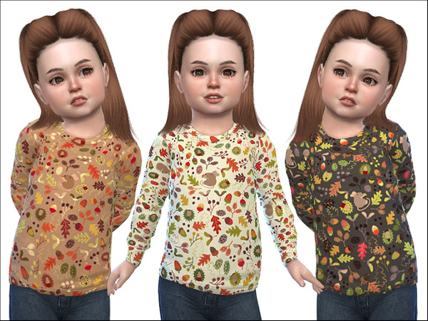 Sims 4 Sweater for Toddler Girls 02 by Little Things at TSR