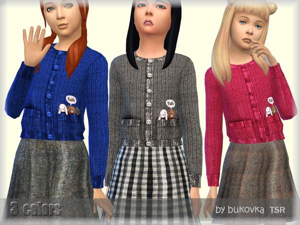 Dress with Cardigan by bukovka at TSR image 3617 Sims 4 Updates