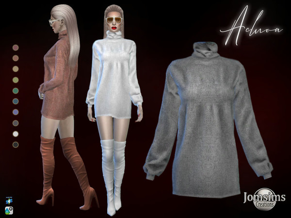 Sims 4 Acluoa dress by jomsims at TSR