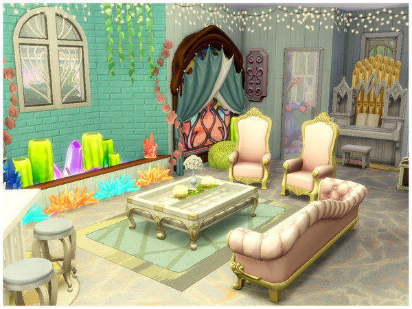 Mermaid Castle by Mini Simmer at TSR image 370 Sims 4 Updates