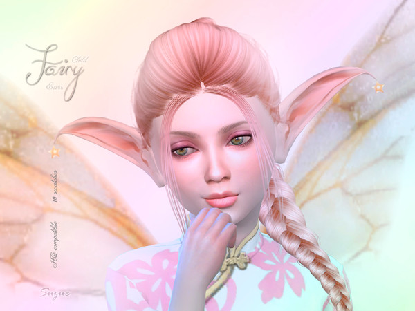 Sims 4 Child Fairy Ears by Suzue at TSR