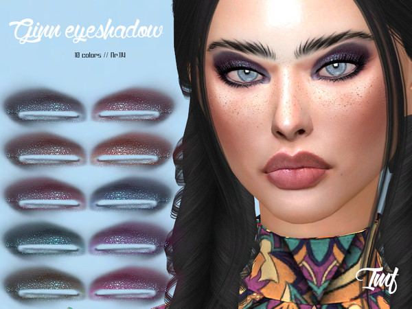 Sims 4 IMF Ginn Eyeshadow N.114 by IzzieMcFire at TSR