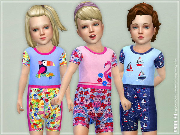 Sims 4 Swimming Suit for Toddler by lillka at TSR