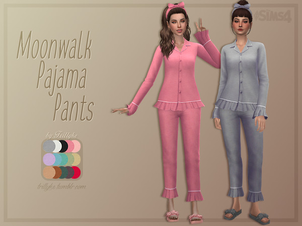 Moonwalk Pajama Pants by Trillyke at TSR image 377 Sims 4 Updates