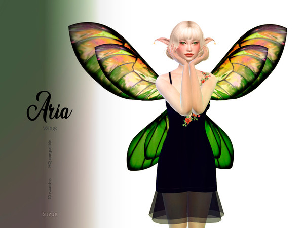 Sims 4 Aria Wings by Suzue at TSR