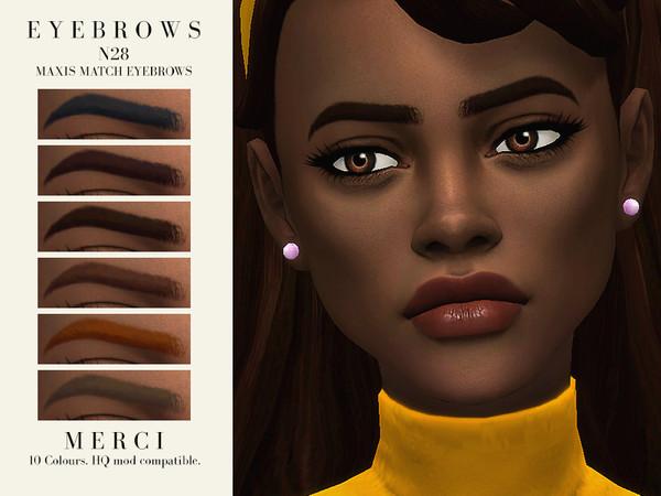 Sims 4 Eyebrows N28 by Merci at TSR