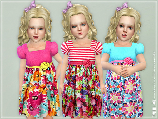 Sims 4 Toddler Dresses Collection P116 by lillka at TSR