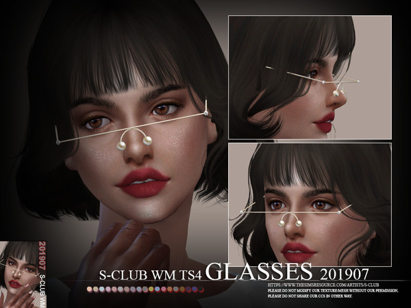 Glasses 201907 by S Club WM at TSR image 4110 Sims 4 Updates