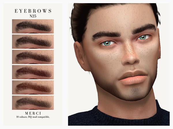 Sims 4 Eyebrows N25 by Merci at TSR